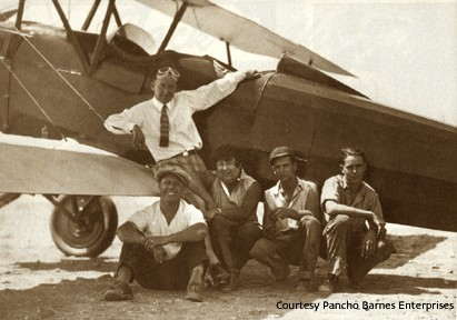 Ben Caitlin, flight instructor, with Dean Banks and Pancho Barnes